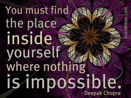 ... Nada é impossível